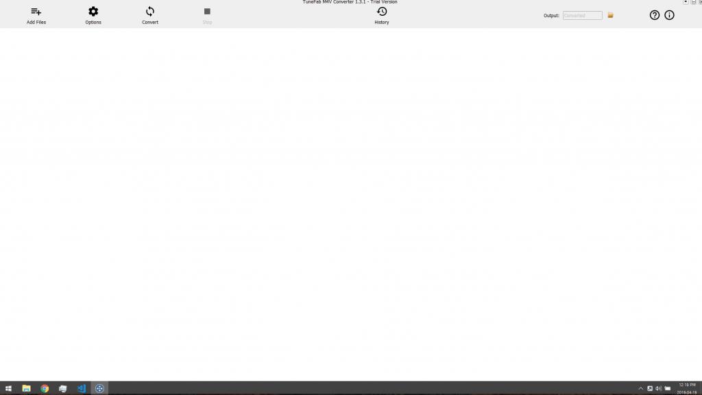 Blank-ish screen